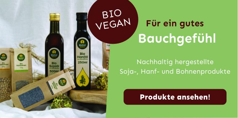 Vegane Bio Produkte von Biohof Müllner. Für ein gutes Bauchgefühl.