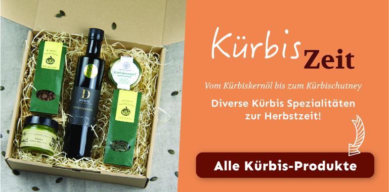 Kürbisspezialitäten | Kürbiskernöl, Kürbischutney, Kürbisschmalz, Kürbiskerne | Kürbiszeit