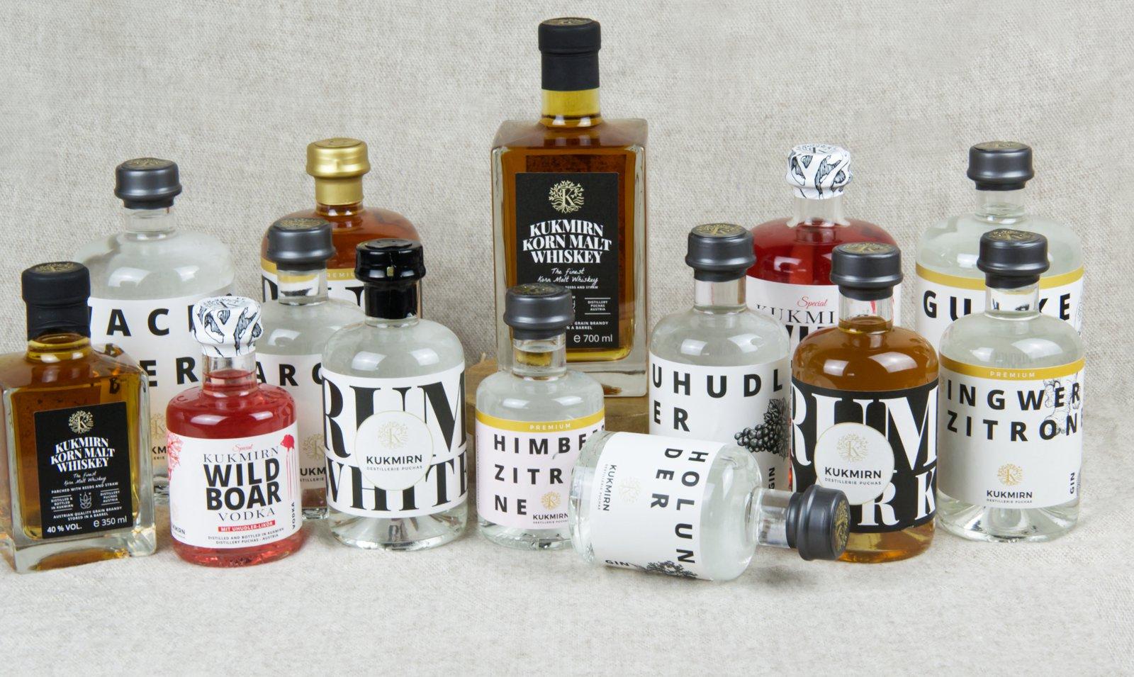 Mix dir deinen Sommer! - NEU: Gin, Vodka, Whiskey und Rum aus der Destillerie Puchas in Kukmirn