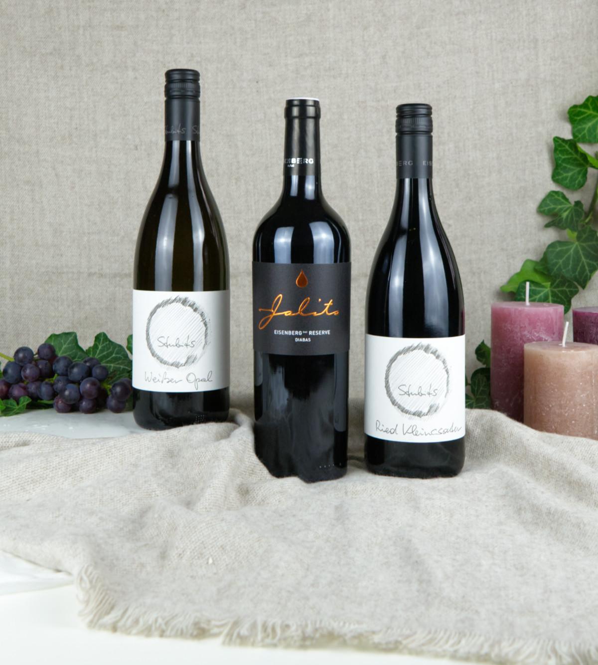 Premium Wein Trio - Herzerwärmende Tropfen vom Csaterberg & Eisenberg.